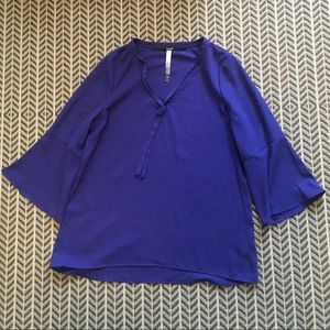 NWT- bright purple bell-sleeved top